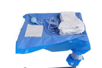 China CE ISO Approve Anti Static Medical C Section Drape SMMS 48gsm supplier