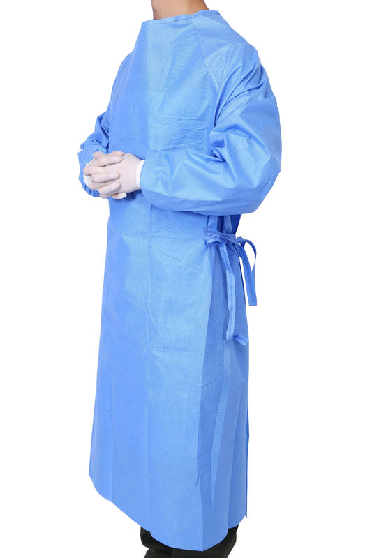 Hospital Surgery Reinforced Sterile Surgical Gowns SMMS Nonwoven
