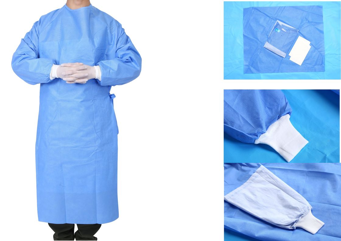 Operating Room Sterile Disposable Surgical Gowns Nonwoven 3 Anti