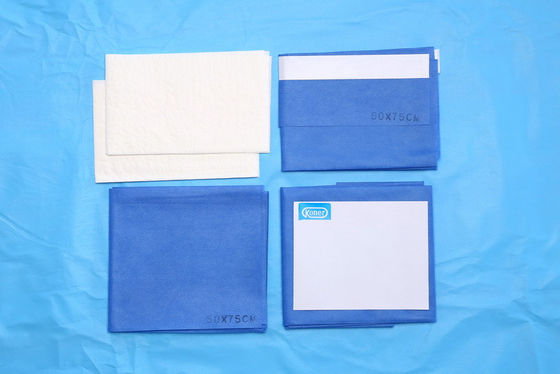 China Single SMS Waterproof Fenestrated Surgical Drapes Eye Drape Pack distributor