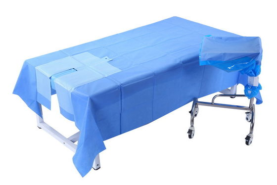 China Waterproof EENT Surgery Medical Sterile U Drape , Wrapping Surgical Packs distributor