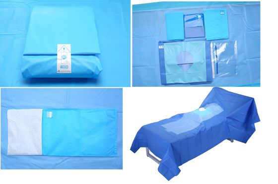 China Hospital Use Medical EO Sterile Fenestrated Drape Pack , Hip U Drape distributor