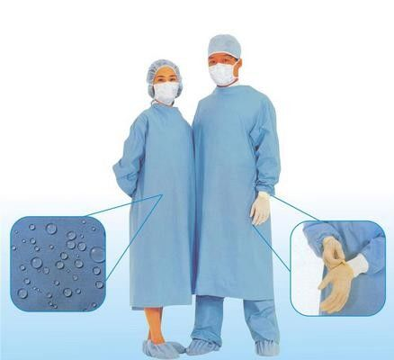 China Breathable Disposable Surgical Gowns , Disposable Scrub Suits distributor